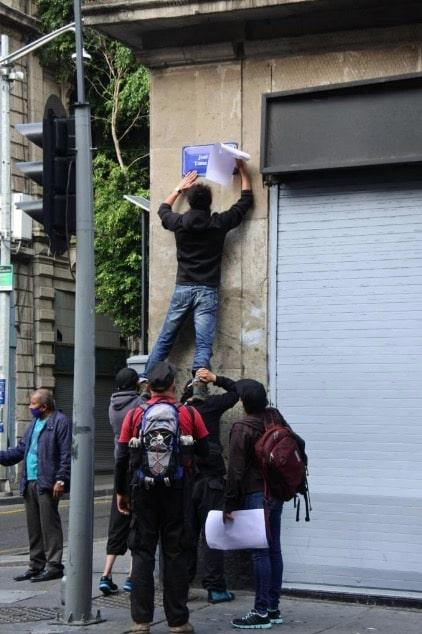 nombres calles CDMX 43 desaparecidos Ayotzinapa