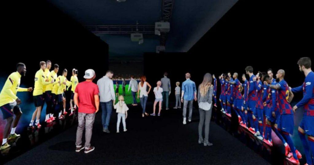 Barça-The-Exhibition-Feel-our-passion-El-Túnel-de-los-jugadores