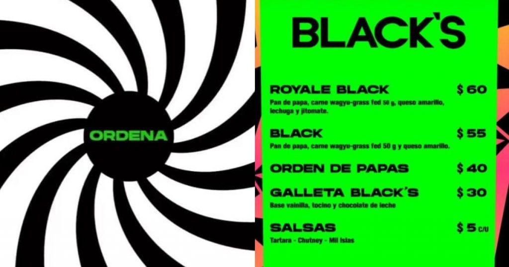 Blacks-Dark-Kitchen-hamburguesa-negra-CDMX-Menú