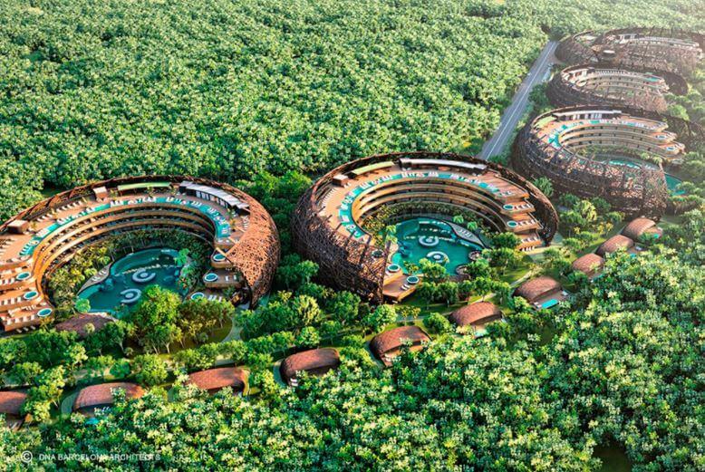 Cocoon el hotel perfecto para hacer ecoturismo en Tulum
