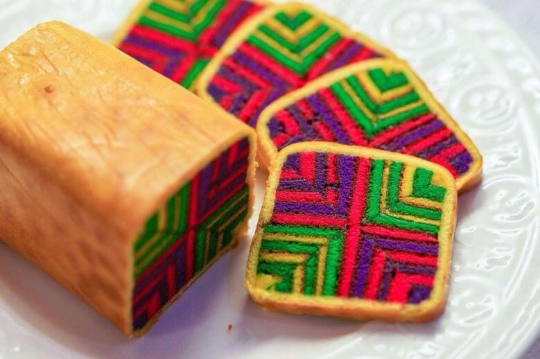 Kek Lapis Sarawak: los pasteles geométricos de Malasia