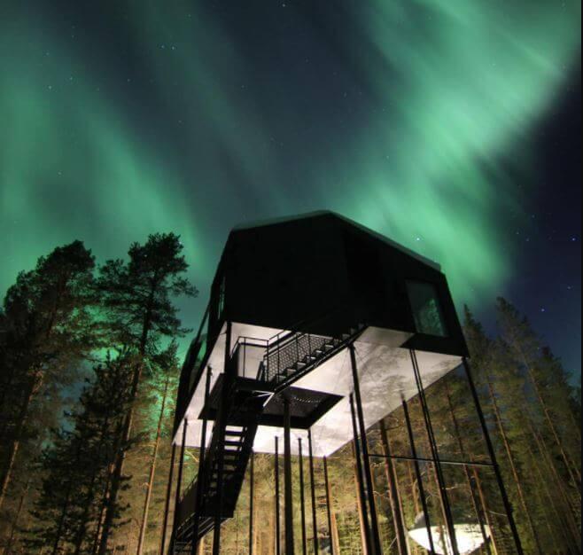 Los mejores lugares para hospedarse y ver auroras boreales