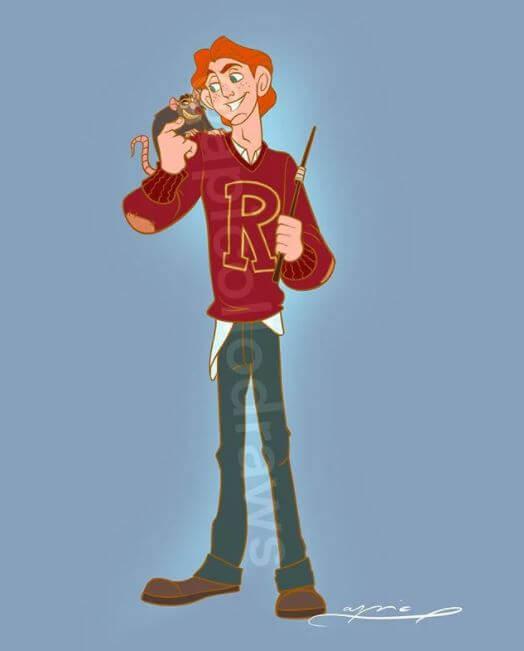 Personajes de Disney se transforman en personajes de Harry Potter