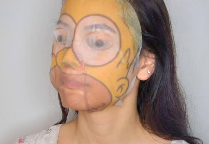 Productos skincare de Los Simpsons