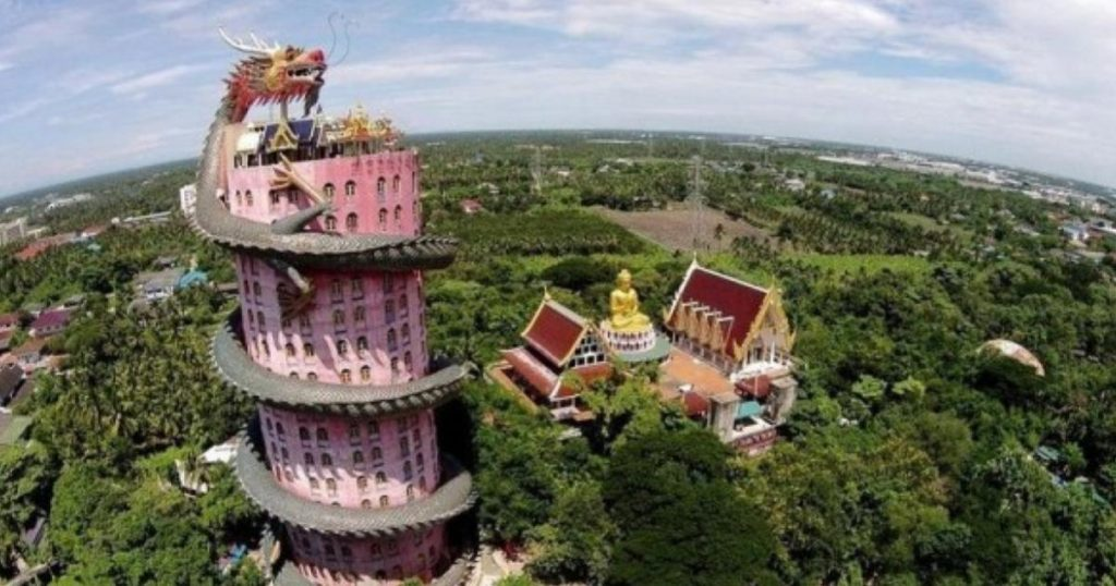 Wat-Samphran-Templo-Rosa-Dragon-Tailandia-2