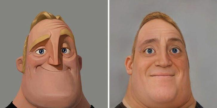 Artista transforma personajes de Pixar en una versión súper realista