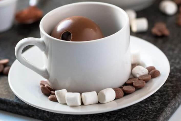 Cómo hacer bombas de chocolate