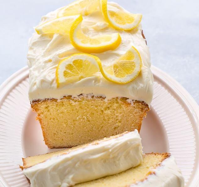 Receta para hacer pastel de limón glaseado