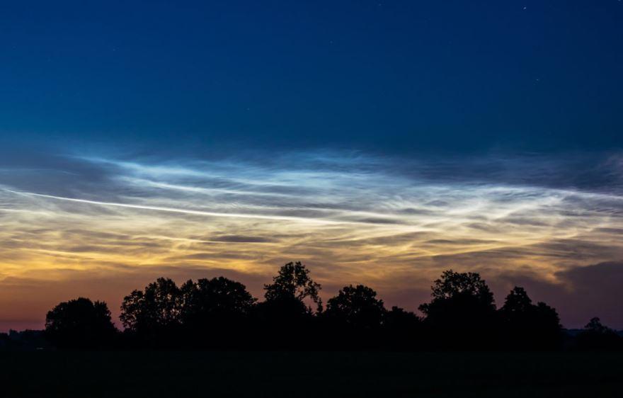 ¿Qué son las nubes noctilucentes?