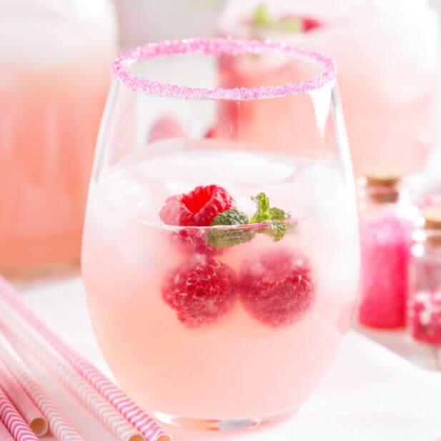 Cómo preparar sangría color rosa
