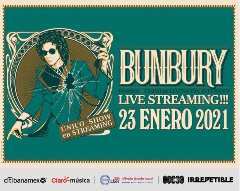 Enrique Bunbury dará por única ocasión un concierto virtual