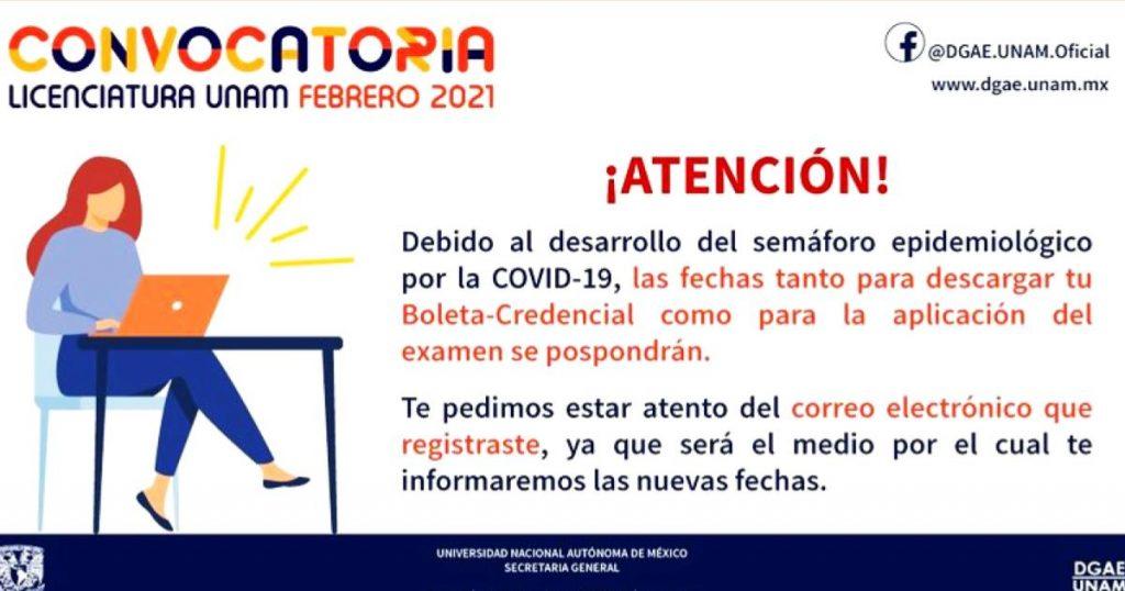 DGAE-UNAM-pospone-examen-admision-licenciatura-2021