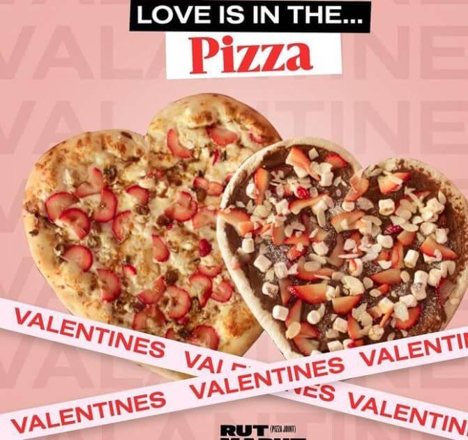 Pizza en forma de corazón para este 14 de febrero