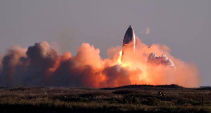 Explotó el prototipo de Space X que llevaría humanos al planeta Marte