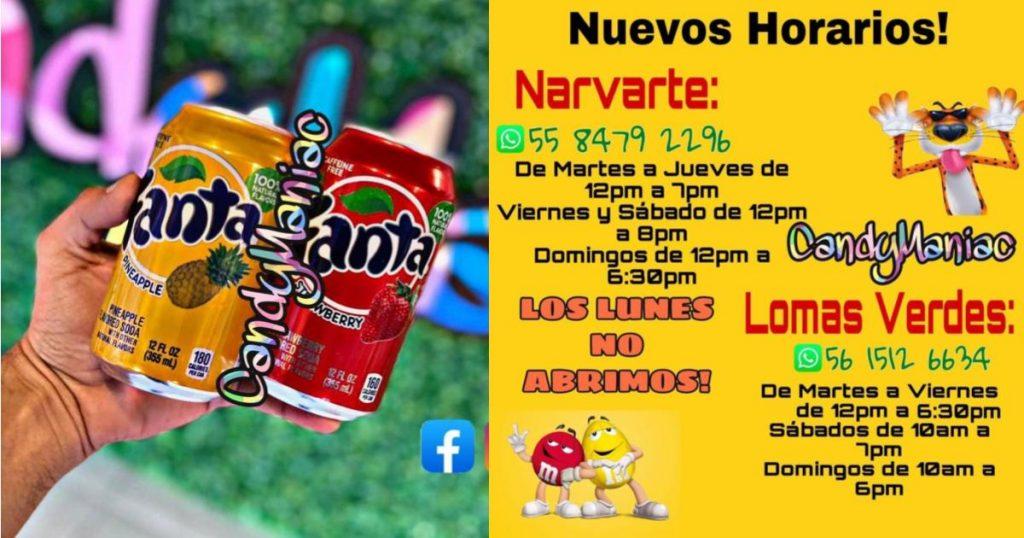 Candy-maniac-dulces-americanos-europeos-Mexico-Horarios