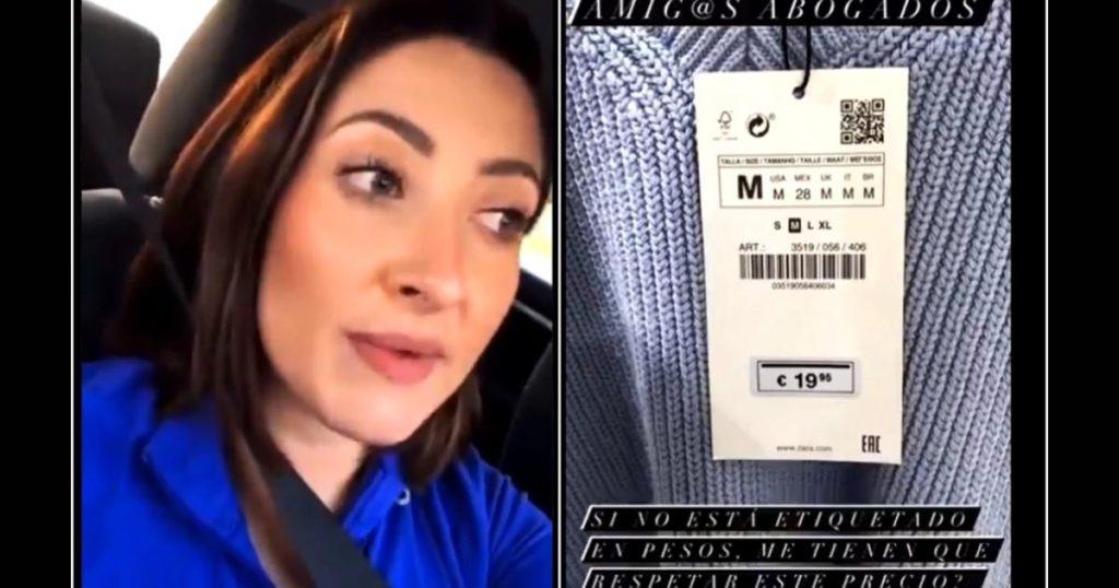 Video-lady-profeco-exige-ropa-en-euros-tienda-Zara-2