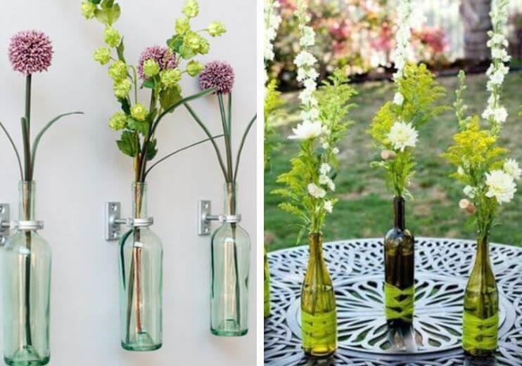 como-reciclar-botellas-de-vino-floreros-sencillos