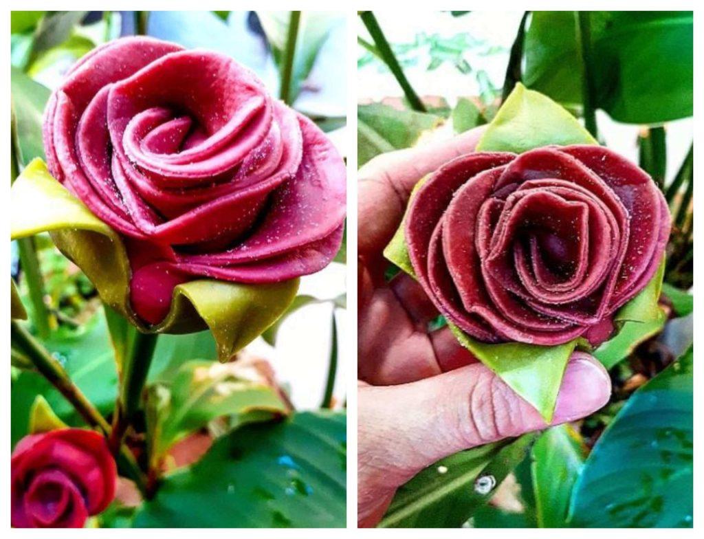 fideos-de-colores-para-decorar-pasta-rellena-en-forma-de-rosa