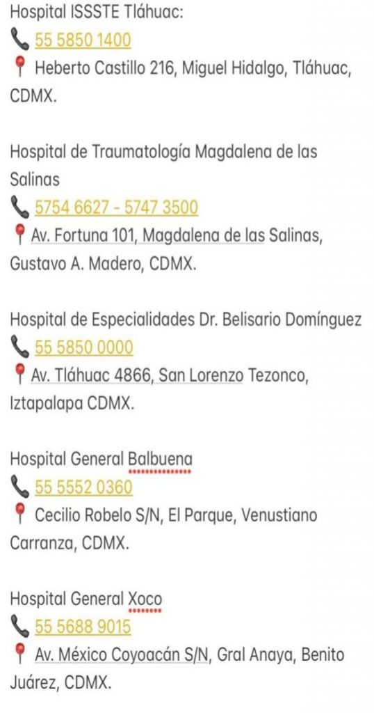 Telefonos-Hospitales-accidente-Metro-CDMX