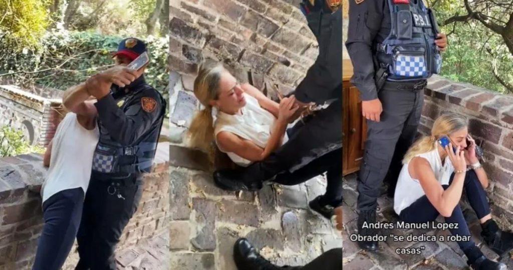 Video-Lady-Miguel-Hidalgo-viral-arresto-mujer-con-cuchillo-TikTok-Twitter-2