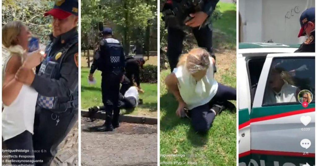 Video-Lady-Miguel-Hidalgo-viral-arresto-mujer-con-cuchillo-TikTok-Twitter-3