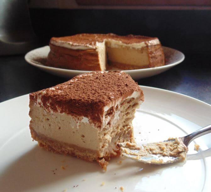 Receta de pastel de café y chocolate frío.  ¡Deliciosamente adictivo!