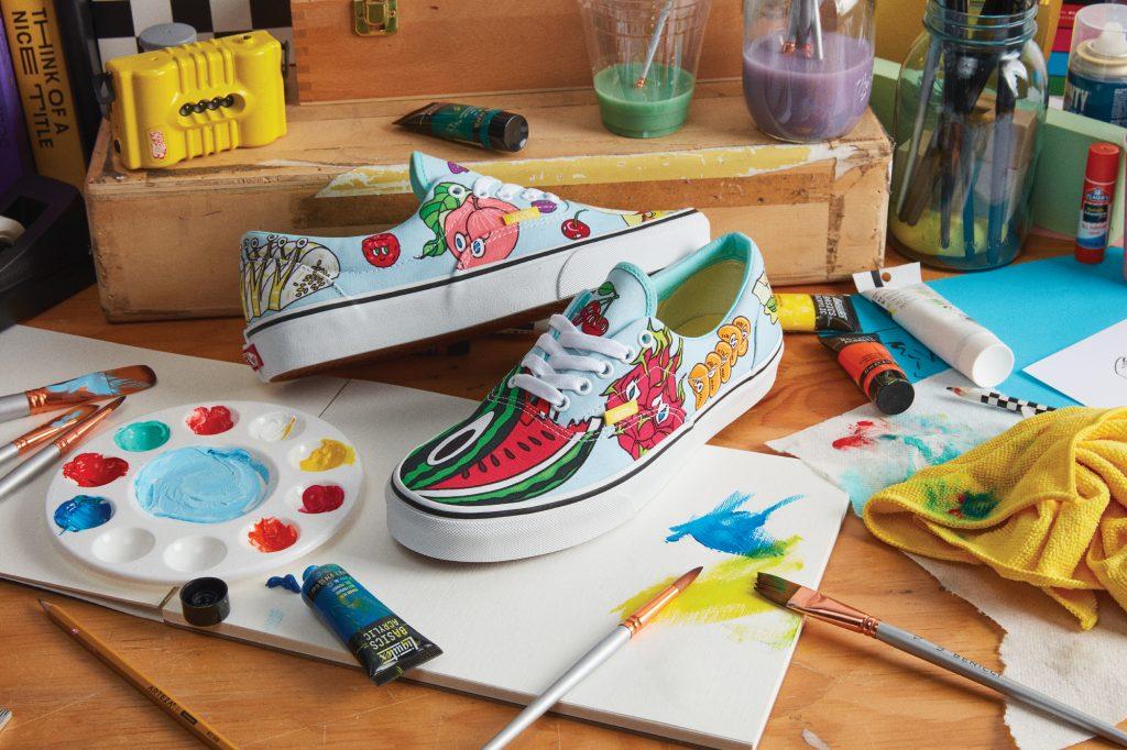 Una colección colorida es la que Juan Carlos Loyo, hizo para la competencia Global Custom Culture de Vans