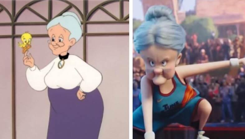 space-jam-antes-y-despues-emma-webster-granny-abuelita