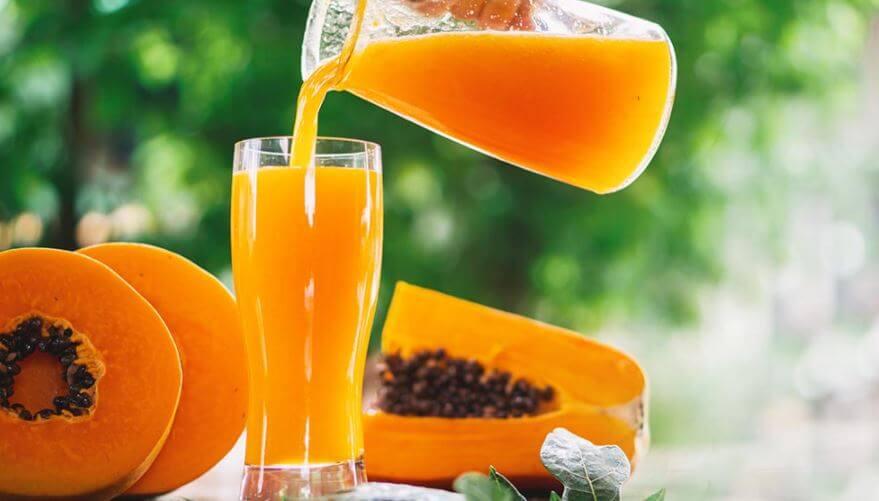 jugos-detox-para-desinflamar-el-abdomen-papaya-y-avena-Ciudad-Trendy
